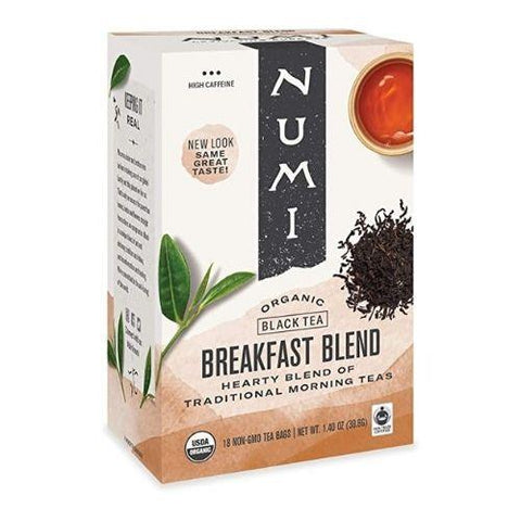 Tea, Breakfast Blend, Numi 18 Tea Bags