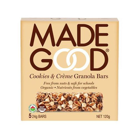 Granola Bars, Cookies & Cream, Made Good 5x24g