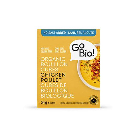 Bouillon Cubes, Chicken, No Salt, Go Bio 66g