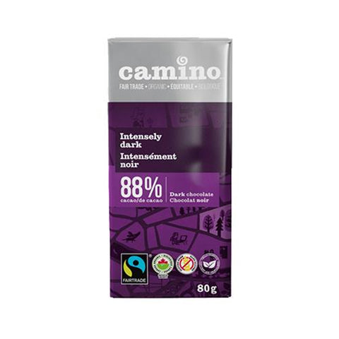 Dark Chocolate 88%, Intensely Dark, Camino 100g