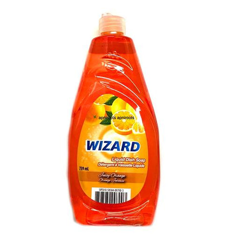 Dish Soap, Juicy Orange, Wizard 739ml