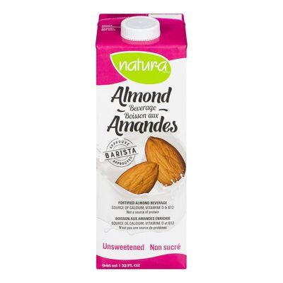 Almond Beverage, Unsweetened, Natura, 946ml
