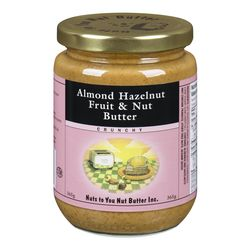 Almond Fruit Butter, Crunchy, Nuts To You Nut Butter, 365g