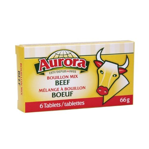 Bouillon Mix, Beef, Aurora 6 Tablets