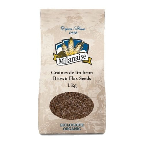 Brown Flax Seeds, Milanaise, 500g