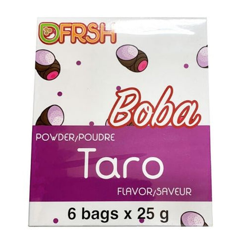 Bubble Tea Powder, Taro, Boba, 6 X 25g