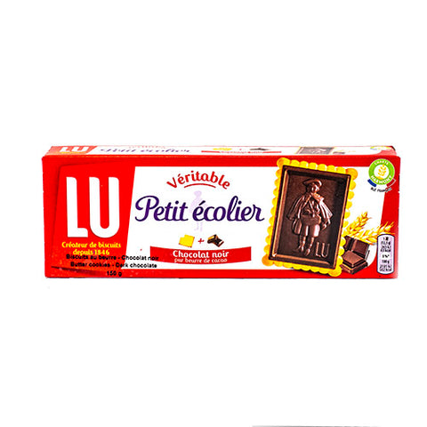 Butter Cookies With Dark Chocolate, Lu, 150g