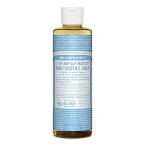 Castile Soap, Baby Unscented, Dr. Bronner's 237ml