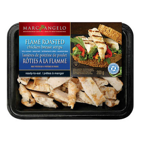 Chicken Breast Strips, Flame Roasted, Marc Angelo, 200g
