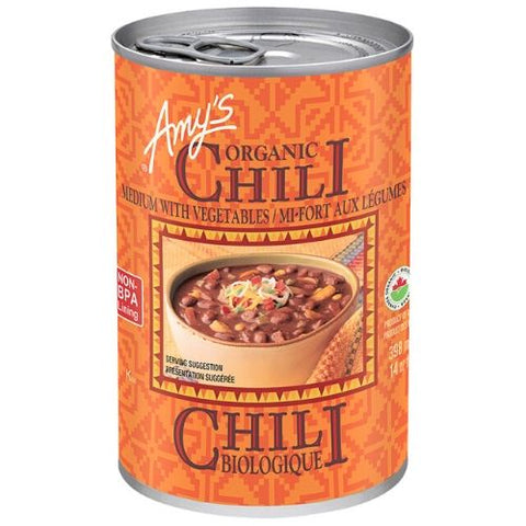 Chili, Medium, Vegetables, Organic, Amy's 398ml