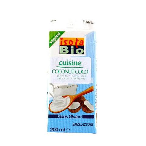 Coconut Cooking Cream, Isola Bio, 200ml