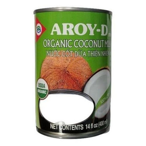 Coconut Milk, Organic, Aroy-D, 400ml