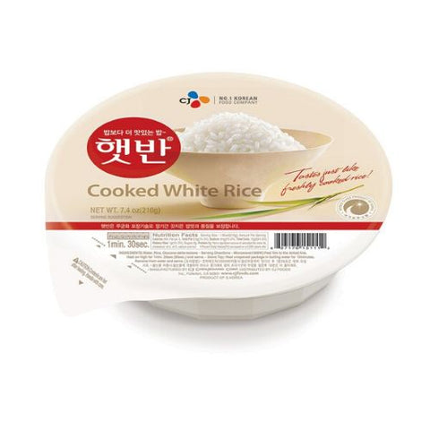 Cooked White Rice, Cj Brand, 210g