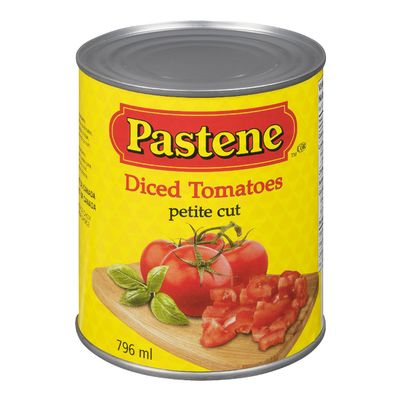 Diced Tomatoes, Petite Cut, Pastene 796ml