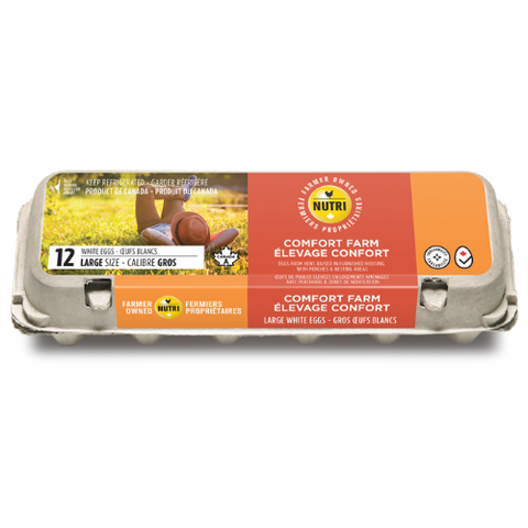 Eggs, Large, Comfort Farm, Nutri, 12 Eggs