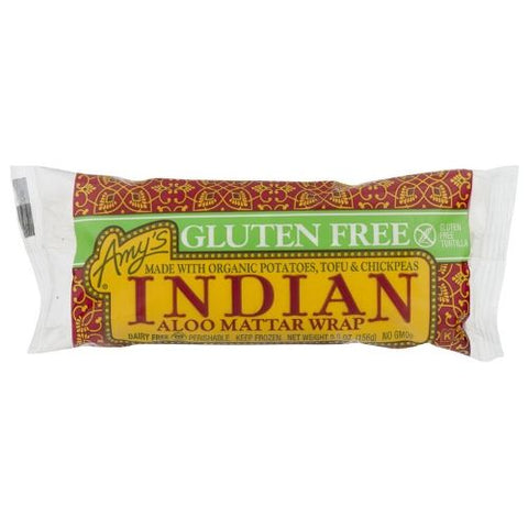 Frozen Indian Aloo Mattar Wrap, Amy's, 156g