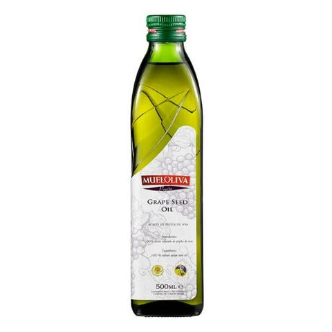 Grape Seed Oil, Mueloliva, 500ml