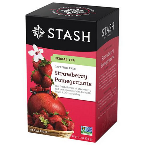 Herbal Tea, Strawberry & Pomegranate, Stash, 18 units