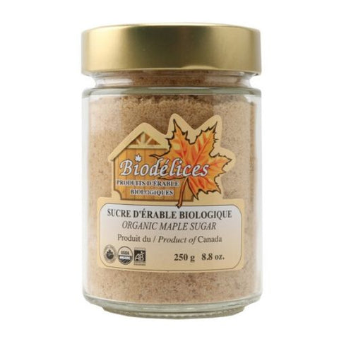 Maple Sugar, Organic, Biodélices, 250g