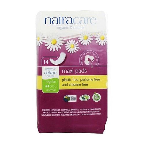 Maxi Pads, Regular, Natracare 14 Units