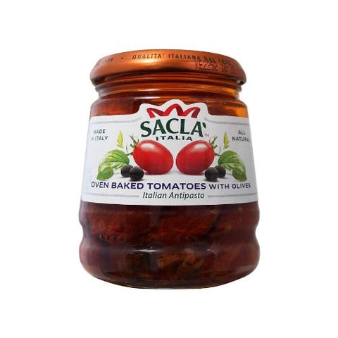 Oven Baked Tomatoes With Olives, Sacla, 285g
