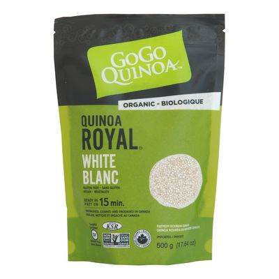 Quinoa, White, Royal, Gogo Quinoa, 500g