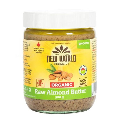 Raw Almond Butter, New World, 500g