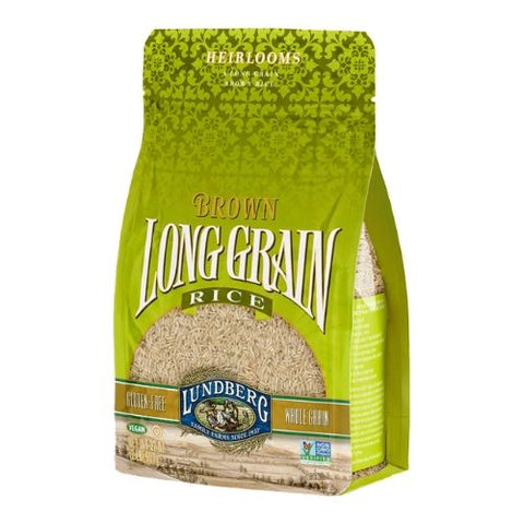Rice, Brown, Long Grain, Lundberg 907g