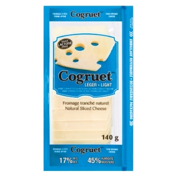 Sliced Cheese, Light, Cogruet, 140g