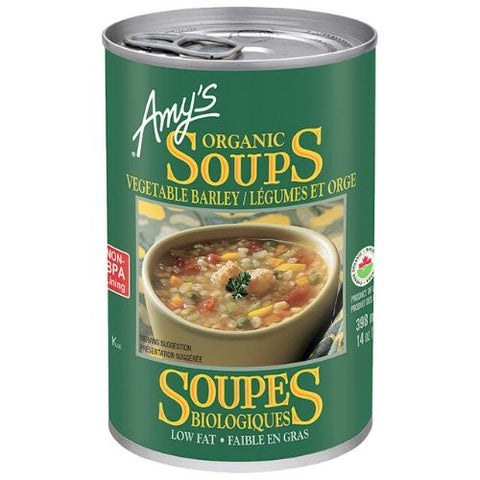 Soup, Vegetable Barley, Organic, Amy's 398ml