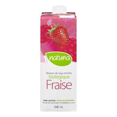 Soy Beverage, Strawberry, Organic, Natura, 946ml