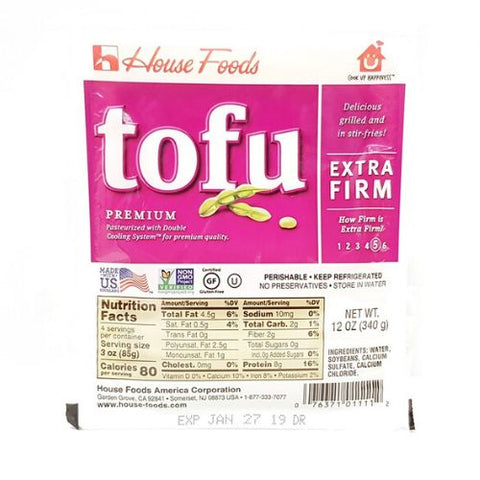 Tofu, Extra Firm, House Foods, 340g