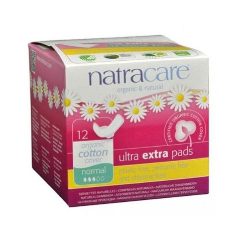 Ultra Extra Pads, Normal, Natracare 12 Units