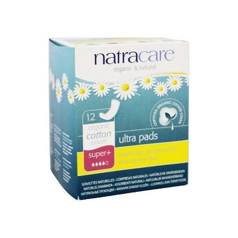 Ultra Pads, Super+, Natracare 12 Units