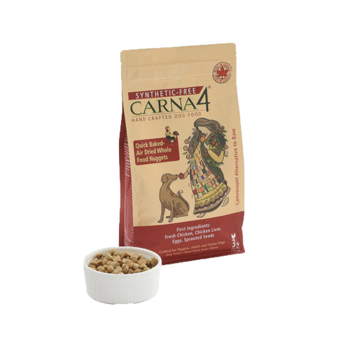 Hand Crafted Easy Chew Dog Food, Chicken, Carna4 Bag 10kg 22lbs