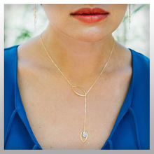 "Load image into Gallery viewer, ""Maya"" Lariat Necklace"
