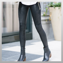 Load image into Gallery viewer, Faux Leather Moto Leggings