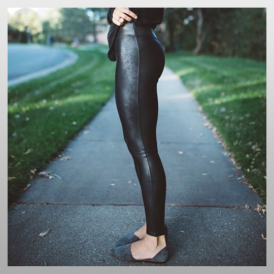 Faux Petite Leather Leggings