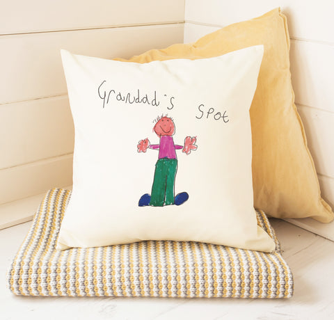 Personalised cushion for grandads on Father's day.