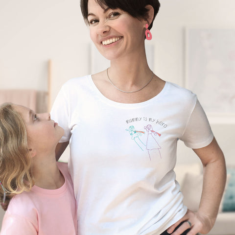 Mummy is my hero t-shirt