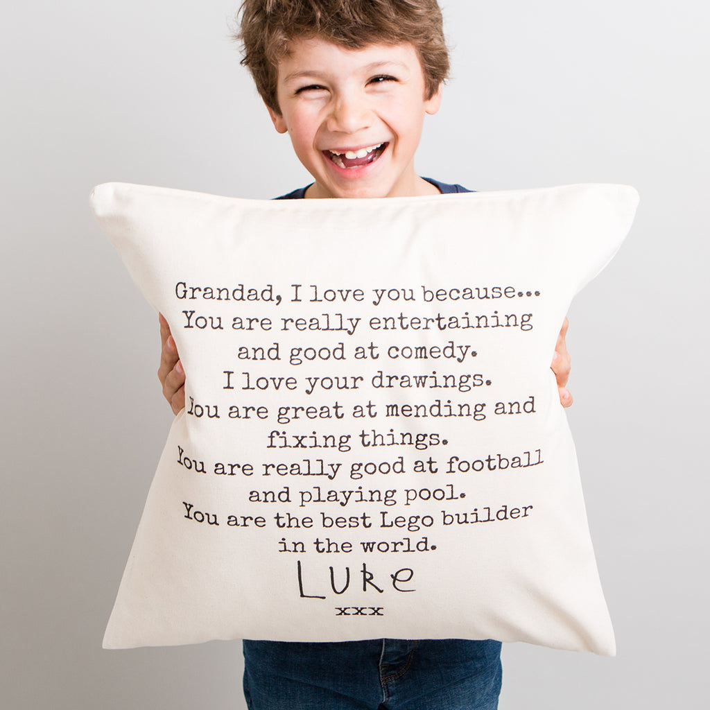 'I love you Grandad' cushion