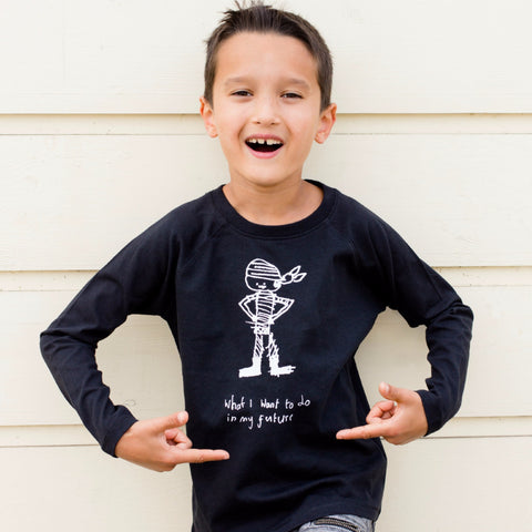Kids long sleeve t-shirt with their drawing