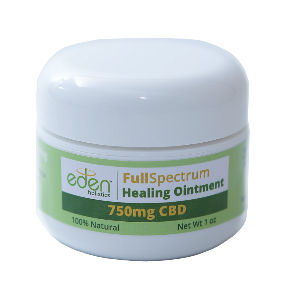 1oz - 750 mg Full Spectrum CBD Healing Ointment
