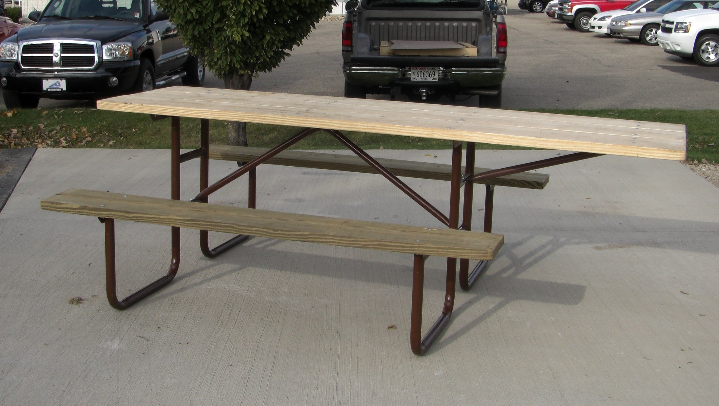 Wheelchair Heavy Duty Table - UNTREATED Lumber
