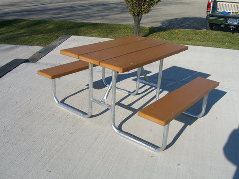 Traditional Picnic Table - RECYCLED PLASTIC Lumber