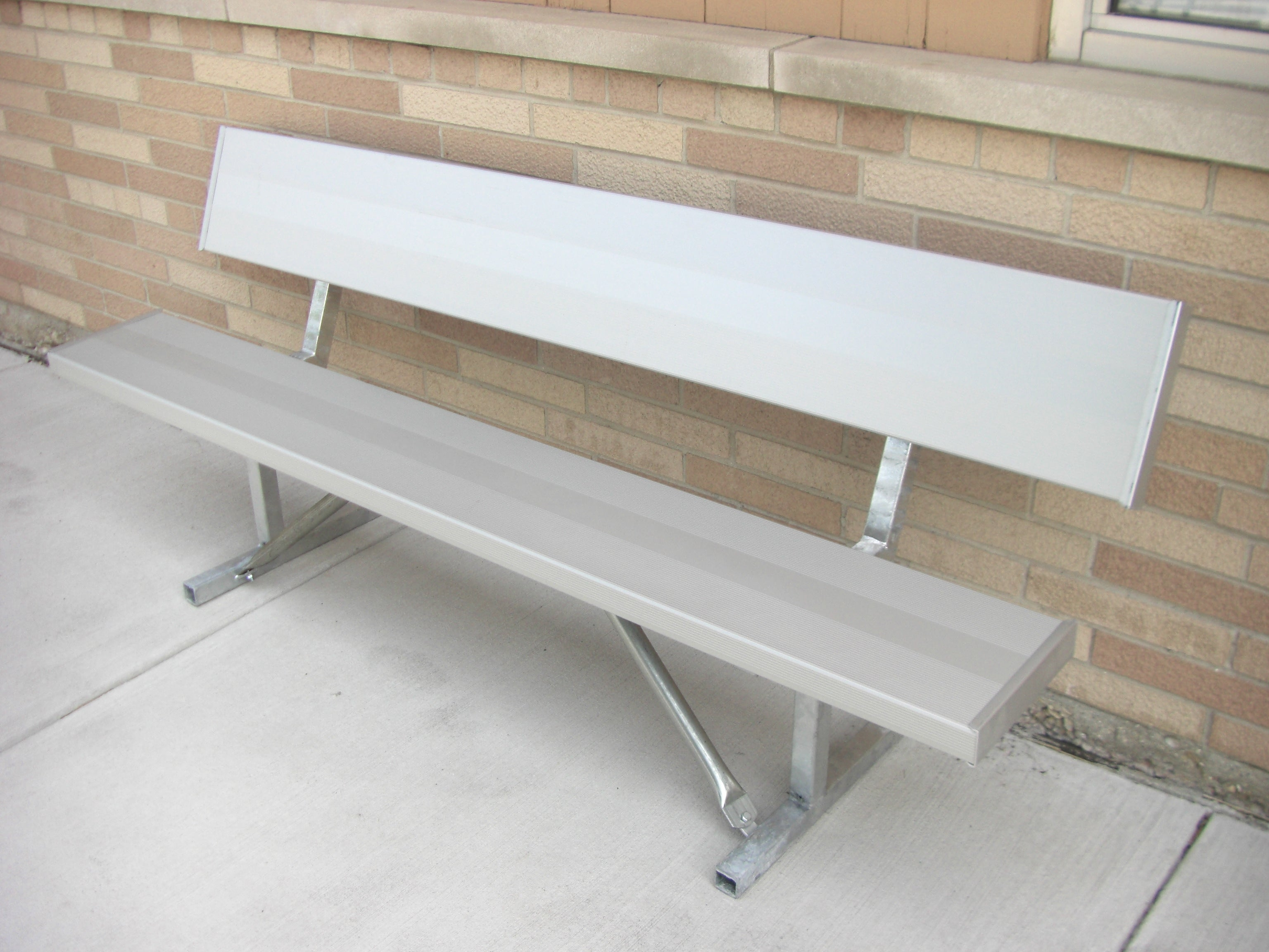 Portable Heavy Duty Park Bench - ALUMINUM
