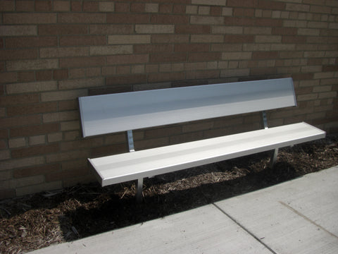 Stationary Heavy Duty Park Bench - ALUMINUM