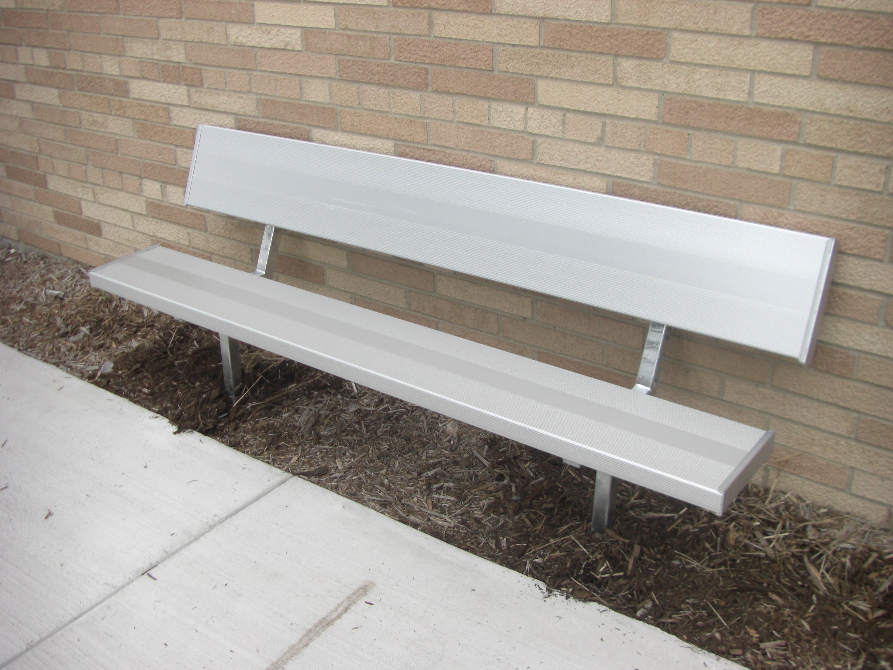 Stationary Standard Park Bench - ALUMINUM