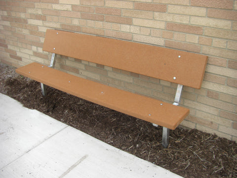 Stationary Standard Park Bench - RECYCLED PLASTIC Lumber