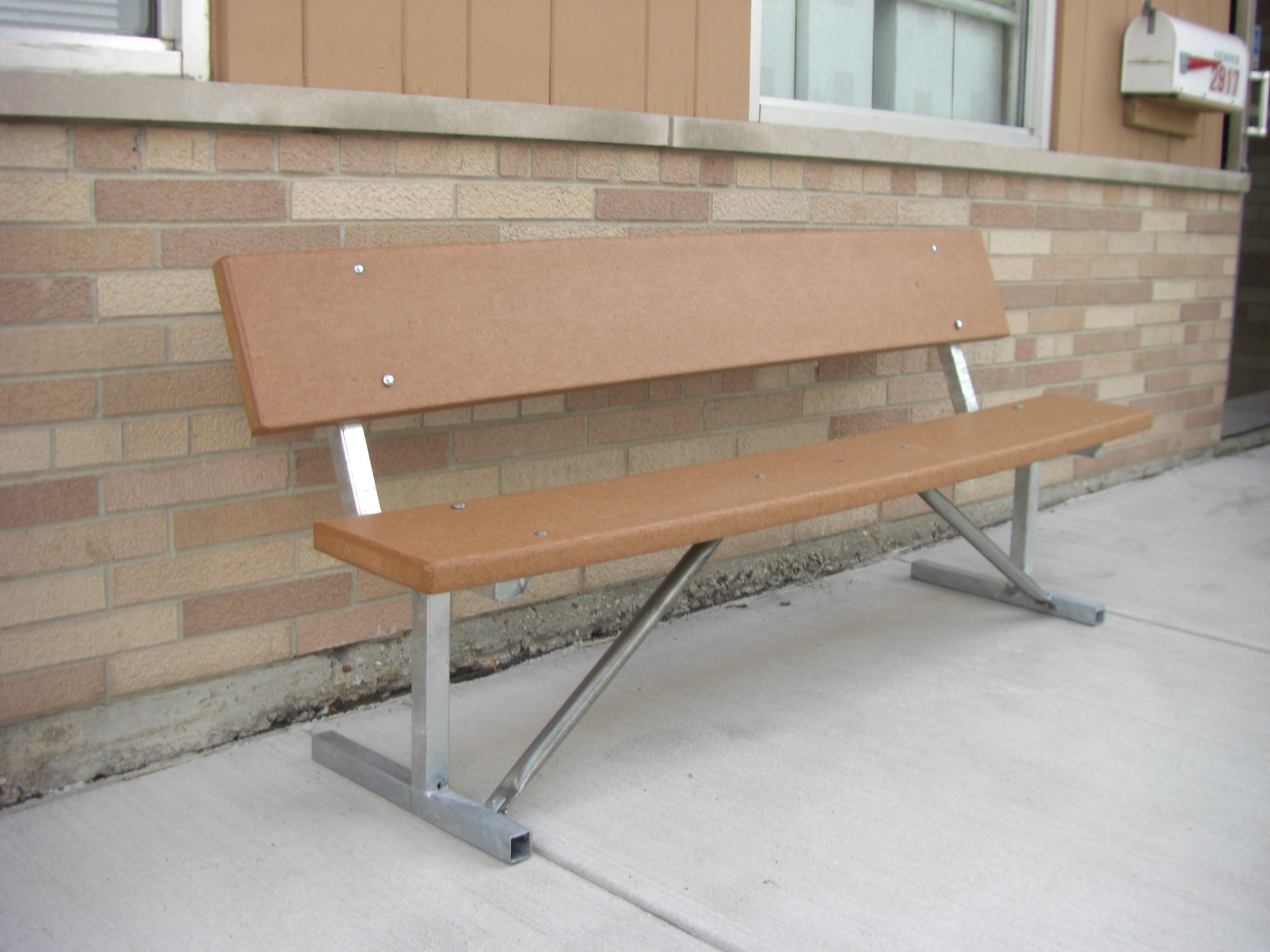 Portable Standard Park Bench - RECYCLED PLASTIC Lumber